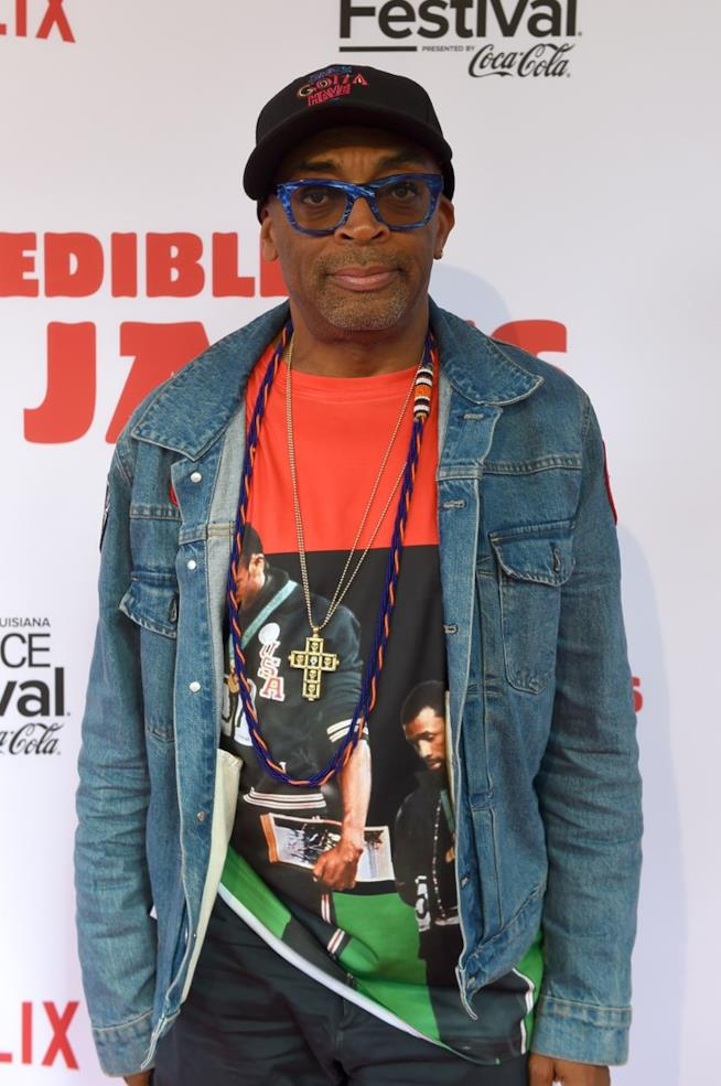 Spike Lee in primo piano su un red carpet