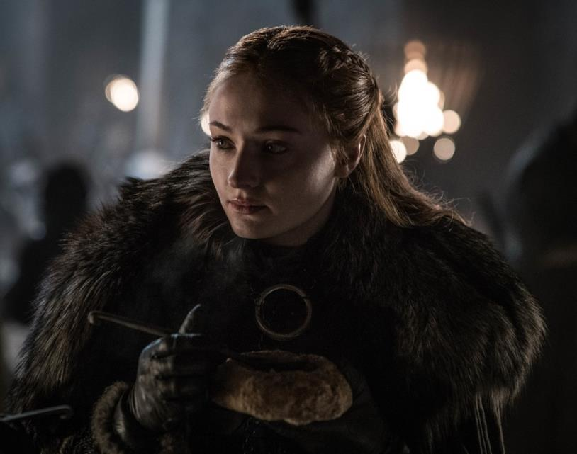 Sansa Stark in una sequenza di Game of Thrones