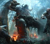 Kratos e suo figlio combattono con un gigante nel nuovo God of War