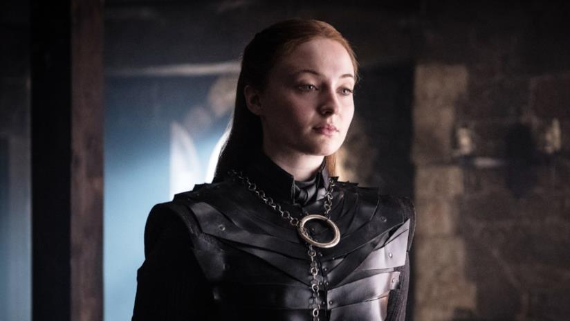 Sophie Turner è Sansa Stark in GoT 8x02