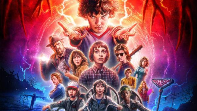 Il final poster della seconda stagione di Stranger Things