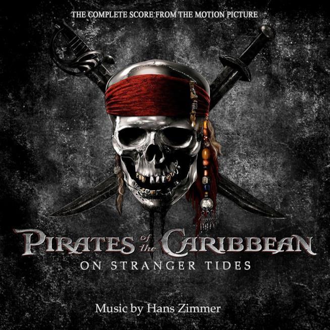 La copertina della colonna sonora de Pirati dei Caraibi: Ai confini del mare