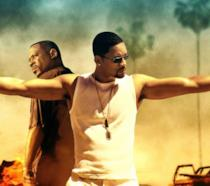 I due attori Will Smith e Martin Lawrence in una scena tratta dalla saga cinematografica di Bad Boys