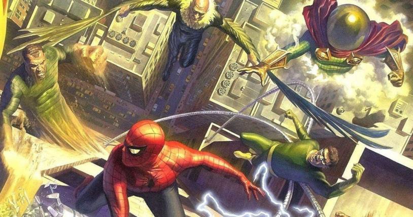 Spider-Man contro alcuni dei Sinister Six