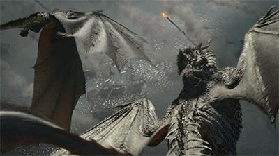 I draghi di Daenerys all'attacco