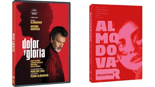 DVD di Dlor Y Gloria e cofanetto Pedro Almodóvar