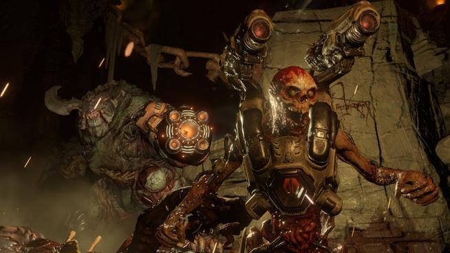 Uno screenshot in-game del reboot di Doom