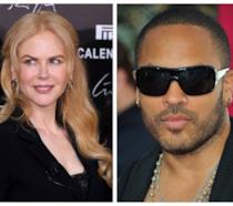 Primo piano di Nicole Kidman con Lenny Kravitz