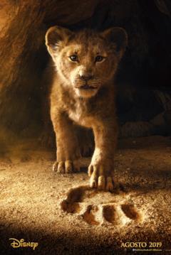 Il leoncino Simba e l'impronta di Mufasa nel teaser poster de Il re leone
