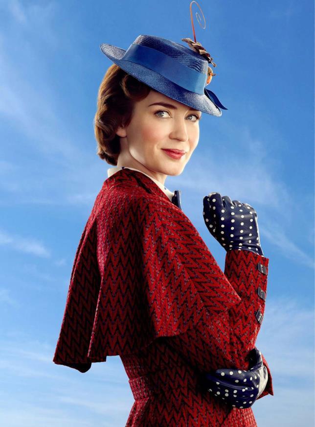 Emily Blunt nel ruolo di Mary Poppins