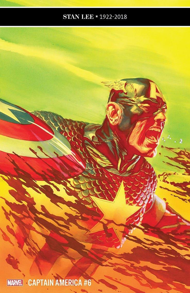 La cover di Captain America #6
