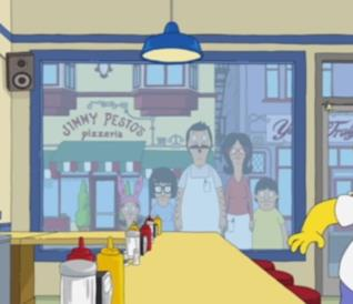 Il cameo di Bob's Burgers ne I Simpson