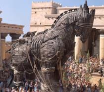 Il cavallo di Troia che appare in Troy con Brad Pitt