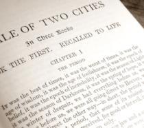 Una pagina del romanzo A Tale of Two Cities