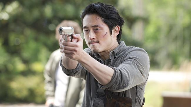 Glenn in una scena di The Walking Dead