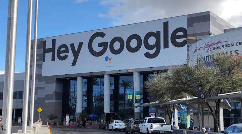 Foto scattata al CES 2019 al padiglione di Google
