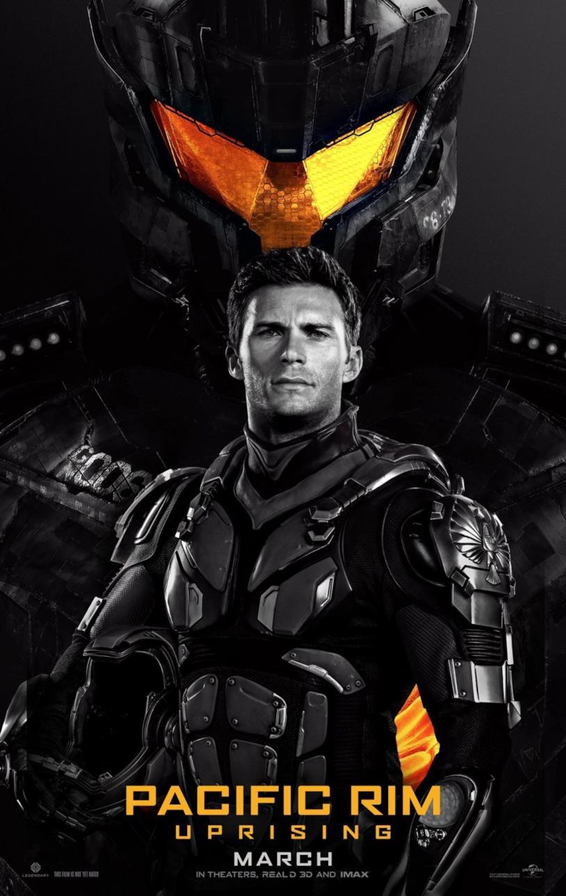 Locandina di Pacific Rim 2 - Go Jaeger in cui figura Scott Eastwood