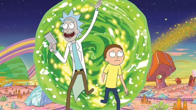Rick e Morty attraversano un portale