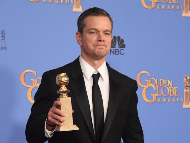 Il candidato all'Oscar Matt Damon