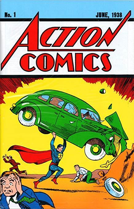Copertina del primo numero di Action Comics, sul quale debuttò Superman
