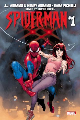 La copertina (realizzata da Olivier Coipel) del primo numero della miniserie di Spider-Man scritta da J.J. e Henry Abrams;