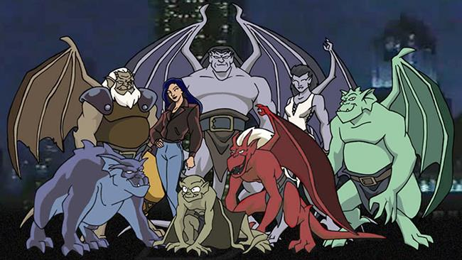 I protagonisti del cartoon Gargoyles