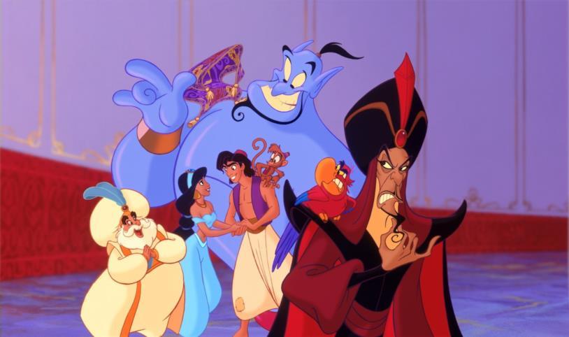 I personaggi di Aladdin, il lungometraggio animato Disney del 1992