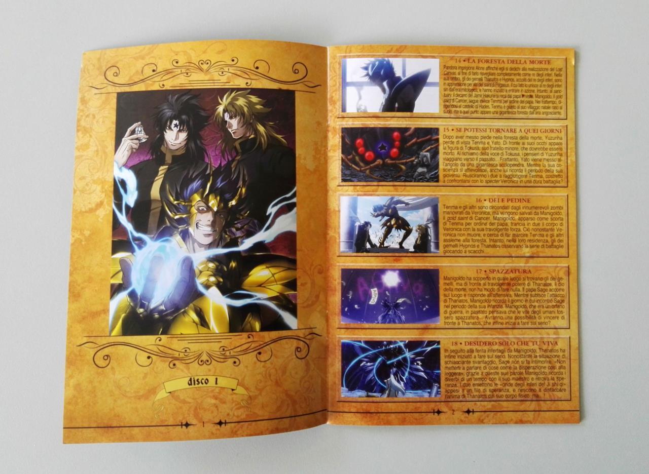 Alcune delle sinossi di Lost Canvas contenute nel booklet