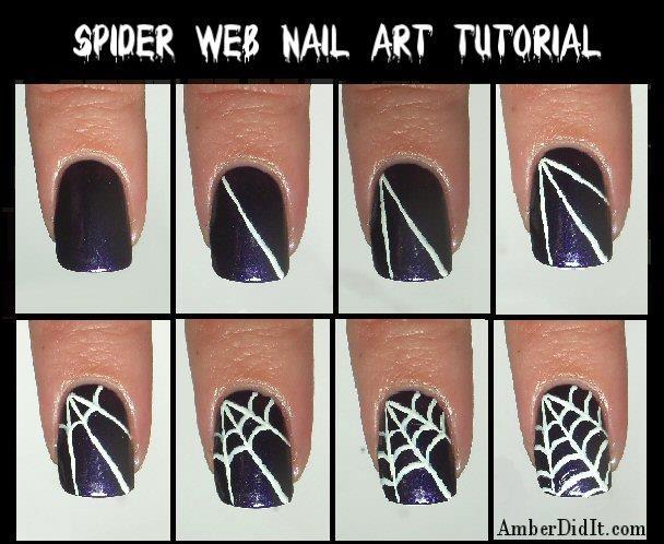 Un facilissimo tutorial per realizzare un nail art a ragnatela