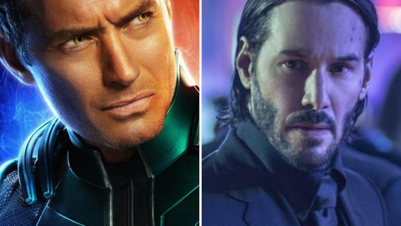 Jude Law a sinistra e Keanu Reeves a destra