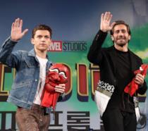 Gli attori Tom Holland e Jake Gyllenhaal