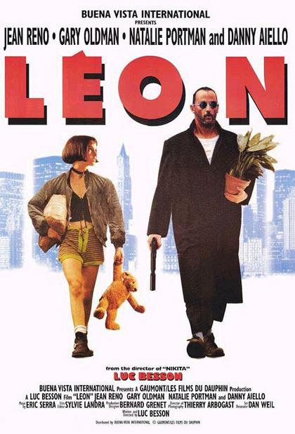 Jean Reno e Natalie Portman in una scena di Léon