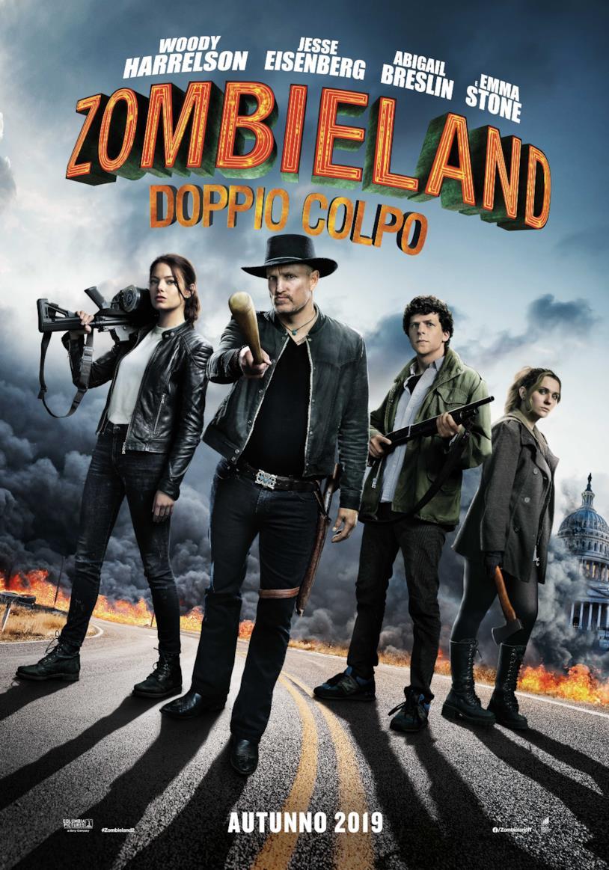I protagonisti di Zombieland: Doppio Colpo nel poster italiano
