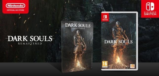 Dark Souls Remastered per Switch in uscita il 19 ottobre 2018