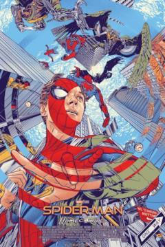 La locandina disegnata del film Spider-Man: Homecoming