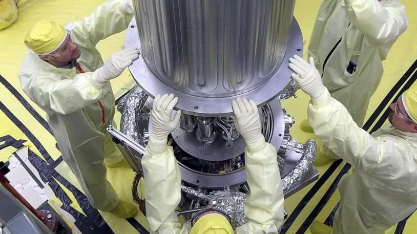 Una foto del reattore Krusty in fase di testing