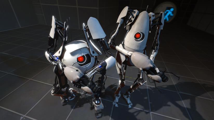 Le due iconiche I.A. di Portal 2
