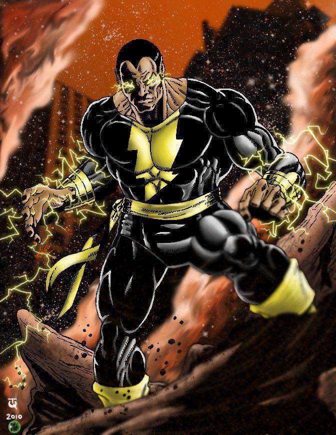 Disegno a figura intera di Black Adam nei fumetti
