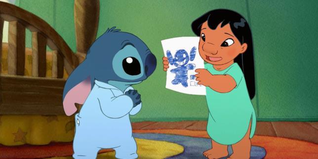 Una scena di Lili & Stitch