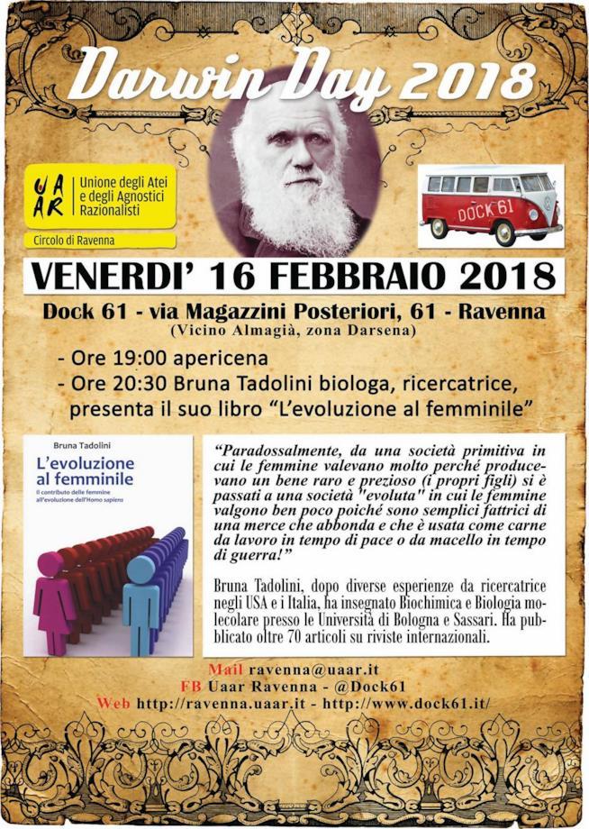 L'evento del Darwin Day a Ravenna