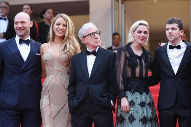 Il cast di Café Society al Festival di Cannes 2016