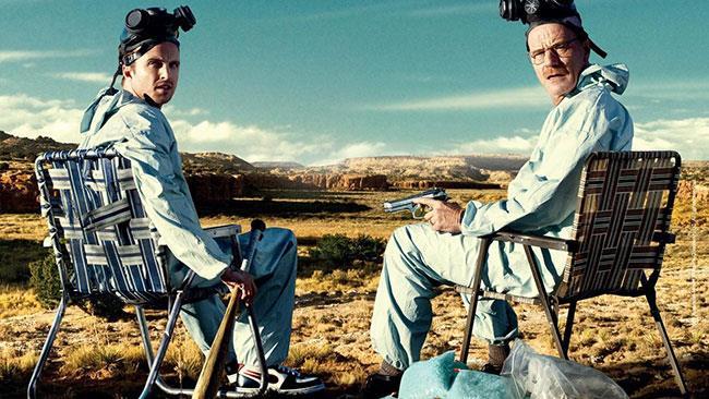 I protagonisti di Breaking Bad in un'immagine promozionale