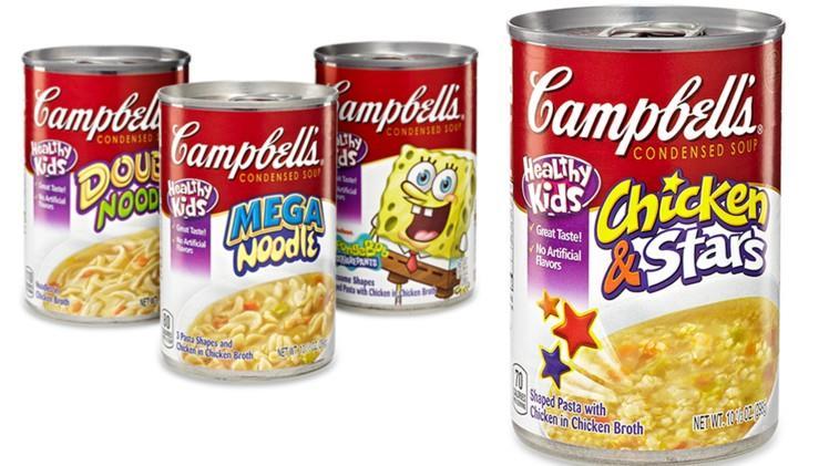 Quattro confexioni di primi piatti pronti e in scatola della Campbell's