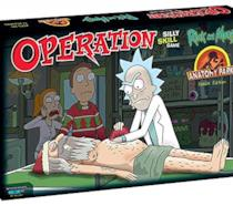 La scatola dell'Allegro Chirurgo in versione Rick e Morty