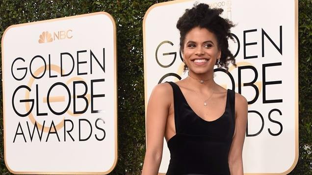 Zazie Beetz sul red carpet ai Golden Globe