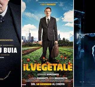 I poster dei film L'Ora Più Buia, Il Vegetale e Insidious - L'Ultima Chiave
