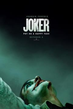 Il Joker guarda in alto, sporco di sangue, nel primo teaser poster ufficiale