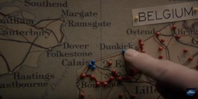 Dunkirk sulla mappa geografica