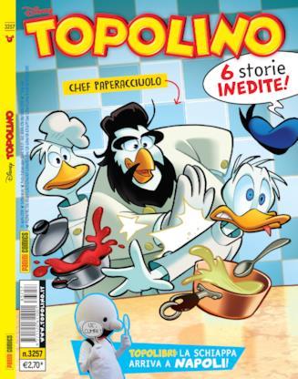 Copertina Topolino con Chef Paperacciuolo alias Antonino Cannavacciuolo