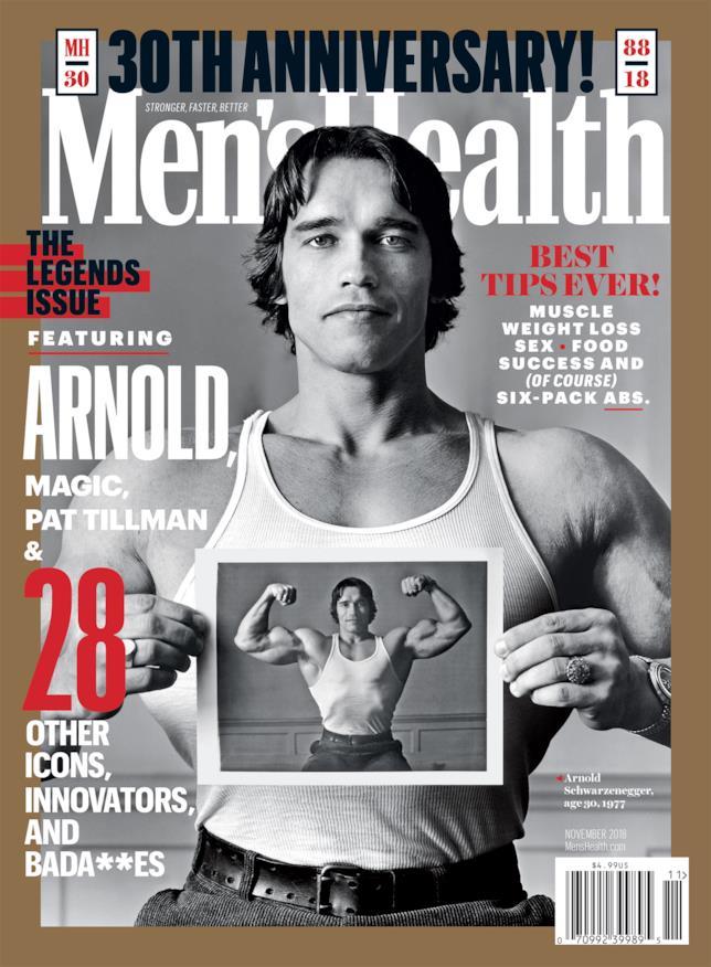 Schwarzenegger sulla cover di Men's Health Magazine